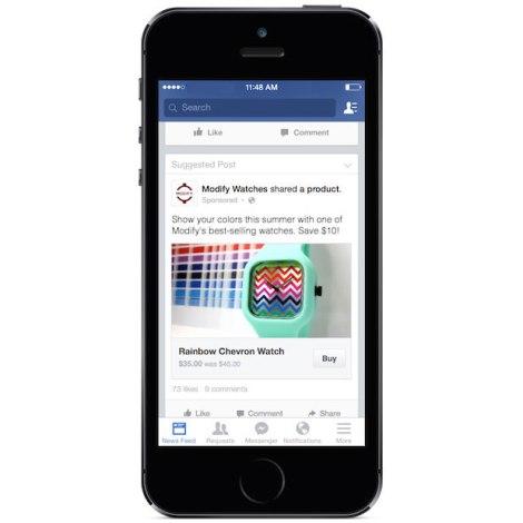 Achats sur Facebook