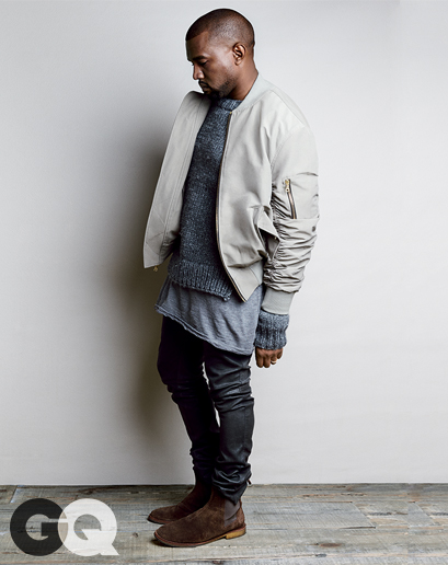 Kanye West vêtu du bomber Fear Of God
