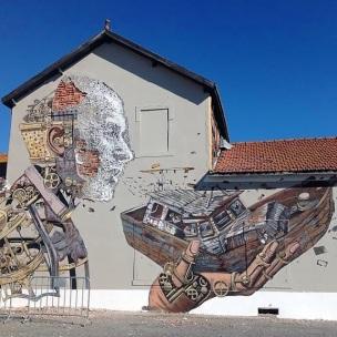 Vhils X pixelpancho, Lisbonne