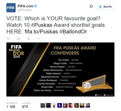 FIFA prix puskas 2014